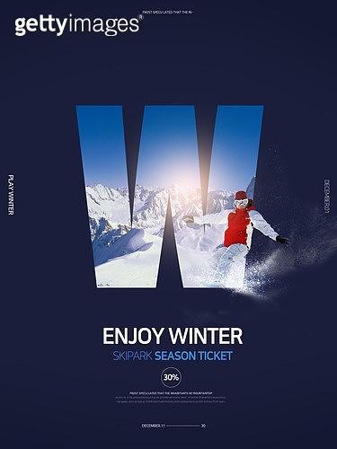 그래픽이미지, 계절 (Setting), 스포츠, 스키 (겨울스포츠), 스노우보드 (스포츠용품), 시즌권