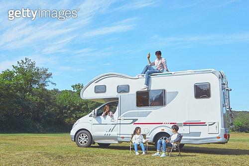 휴가, 여행, 휴식, 캠핑, 캠핑 (아웃도어), 캠핑트레일러 (트레일러)