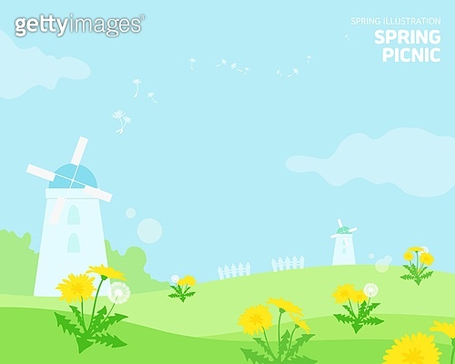 일러스트,봄,계절,꽃