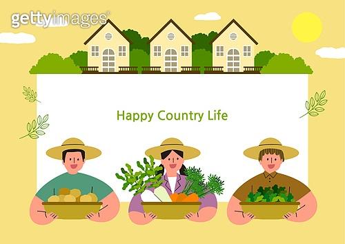 라이프스타일, 집, 전원생활 (컨셉), 별장 (건설물), 가족, 농부 (농촌직업), 농업 (주제), 도시저택 (집)