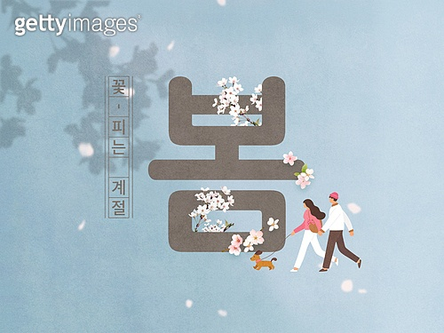 타이포그래피 (문자), 봄, 벚꽃