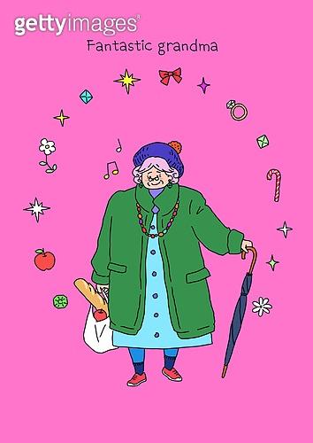 노인 (성인), 프레임, 패션, 멋 (컨셉), 어번그래니 (실버라이프), 노인여자 (성인여자)