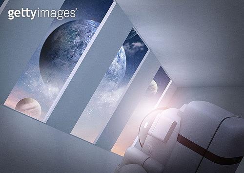 실내, 공간, 미니멀 (콤퍼지션), 환상, 행성, 우주 (자연현상)