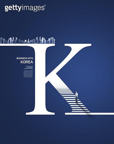 그래픽이미지, 합성, 사회이슈 (주제), 비즈니스, 성공, 비즈니스맨, 도시, 포부 (컨셉), 화살표