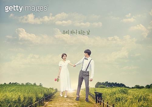 결혼 (사건), 촬영, 스냅촬영, 자연스러움 (컨셉), 행복, 사랑 (컨셉), 길, 초원 (자연의토지상태)