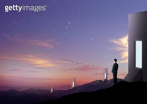 환상 (컨셉), 백그라운드 (주제), 몽환적인색채, 하늘, 별이쏟아지는하늘 (별)