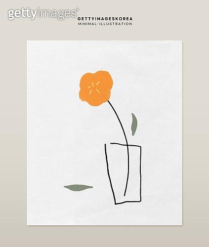 일러스트, 액자 (예술도구), 장식품 (인조물건), 드로잉작품 (미술품), 봄, 인테리어, 포스터, 유화 (회화기법)