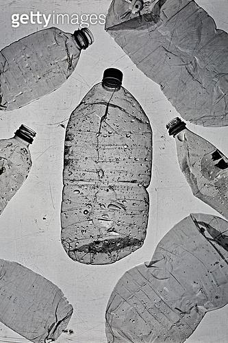 플라스틱, 쓰레기 (물체묘사), 실루엣, 환경오염, 페트병