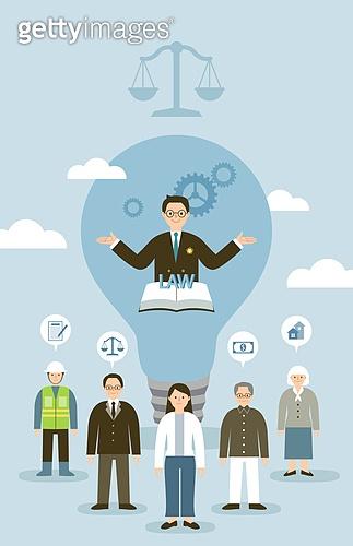 사람, 법, 법 (주제), 변호사 (법조인), 저울, 사람들, 여러명[3-5] (사람들), 직업