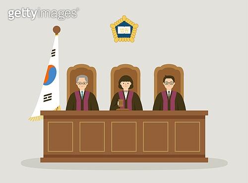 사람, 법, 법 (주제), 판사, 법원, 태극기