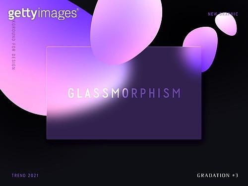 글래스모피즘, 유리, 그라데이션, 프레임, 백그라운드, 도형, 트렌드