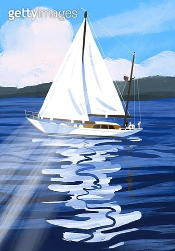 풍경 (컨셉), 여름, 계절, 바다, 휴양지, 요트 (휴양보트)