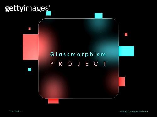 파워포인트, 메인페이지, 백그라운드, 글래스모피즘, 유리, 그라데이션, 프레임, 도형, 트렌드