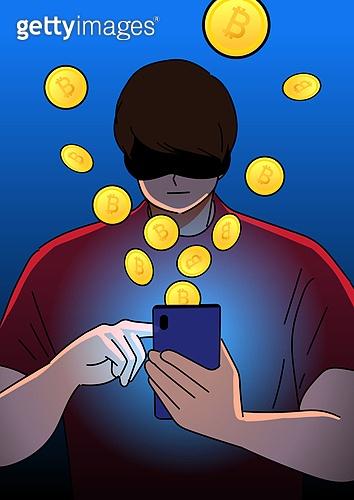 비트코인, 동전 (화폐), 암호화폐, 투자, 도박 (주제), 남성 (성별), 자산관리, 사회이슈 (주제)