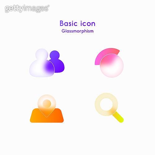 아이콘, 아이콘세트 (아이콘), 글래스모피즘, 트렌드, 그래프, 돋보기 (광학기기), 위치도, 주소록