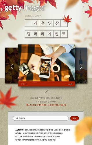 가을, 영상, 소셜미디어마케팅 (디지털마케팅), 공유 (컨셉), 상업이벤트 (사건), SNS (기술), 단풍잎, 댓글, 은행잎 (잎)