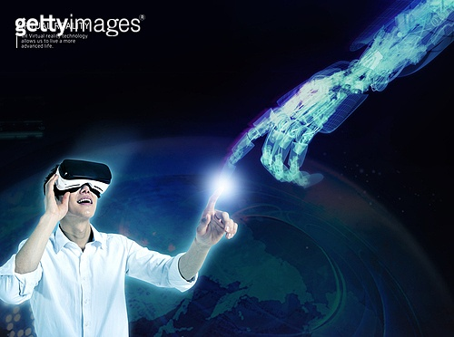 비즈니스, 가상현실 (컨셉), 메타버스, Virtual Reality (Concepts), 스마트글래스, 사람손 (주요신체부분), 교감 (교사)