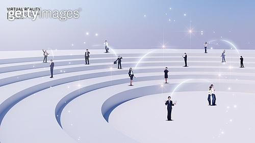 비즈니스, 가상현실 (컨셉), 메타버스, Virtual Reality (Concepts), 여러명[10이상] (사람들), 커뮤니케이션