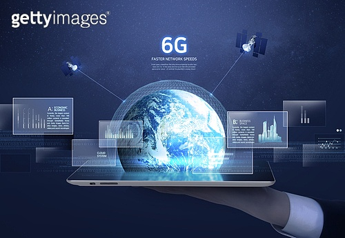 컴퓨터네트워크 (컴퓨터장비), 6G, 첨단기술 (기술), 빅데이터 (인터넷), 비즈니스, 지구 (행성), 인공위성