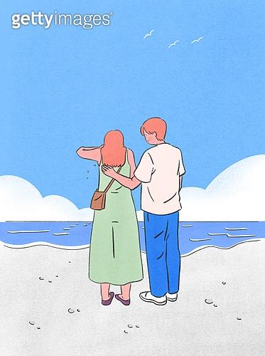 위로, 사람, 응원, 우울, 우울 (슬픔), 정신건강 (주제), 바다, 해변, 커플