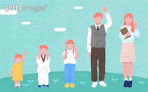 사람들, 여러명[3-5] (사람들), 공동체, 함께함 (컨셉), 이웃, 어린이 (나이), 초등학생, 교복, 중고등학교 (학교건물)
