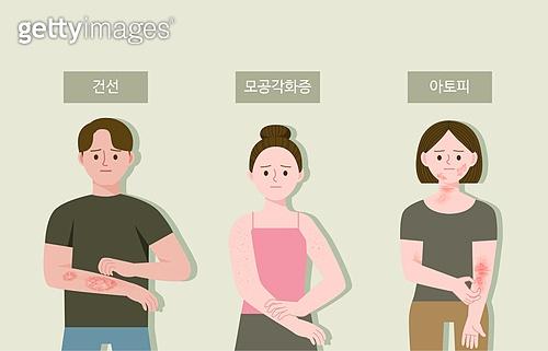 스킨케어 (뷰티), 피부트러블 (질병), 뷰티 (아름다움), 사람피부 (주요신체부분), 피부과, 건선, 아토피피부염 (피부트러블)