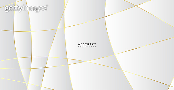 Abstract background with gold waves. Luxury paper cut background, golden pattern, halftone gradients, cover template, geometric shapes, modern minimal banner. 3d Vector illustration.