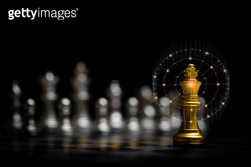 Chess board game for ideas and competition and strategy, business success concept.