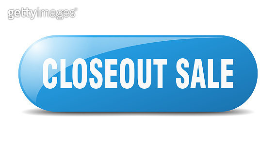 closeout sale button. sticker. banner. rounded glass sign