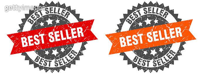 best seller band sign. best seller grunge stamp set