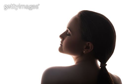 woman silhouette mindfulness tranquility peaceful