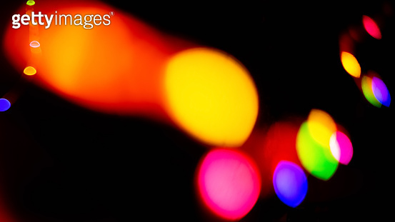 festive abstract background colorful bokeh light