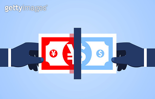 Currency conversion, the concept of exchange rate, and the conversion between currencies