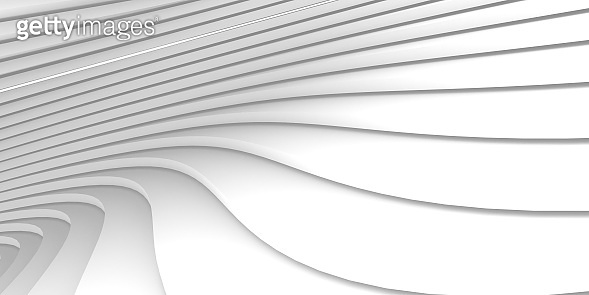 White surface curve form for texture interior modern architect.