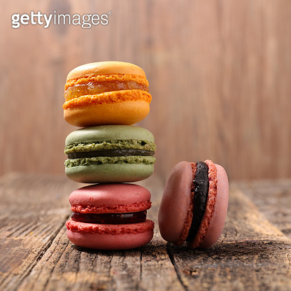 stack of french traditional macaroons