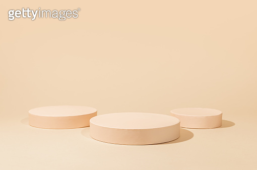 Abstract background with geometric podiums