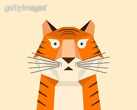 Cartoon Tiger image design,Chinese Zodiac-Tiger, Year of the Tiger cartoon image design.