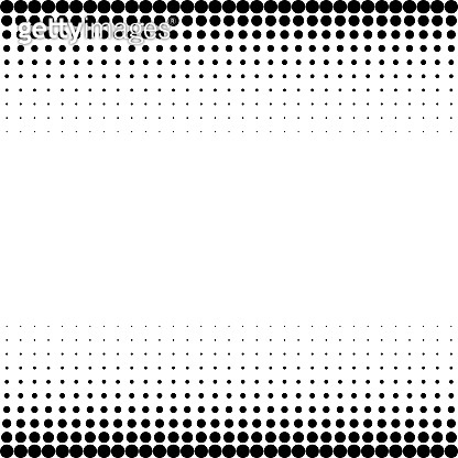 Halftone vector background. Monochrome halftone pattern. Abstract geometric dots background.
