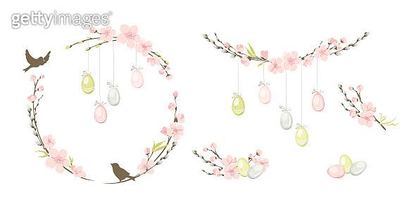 Frames for Easter holidays.