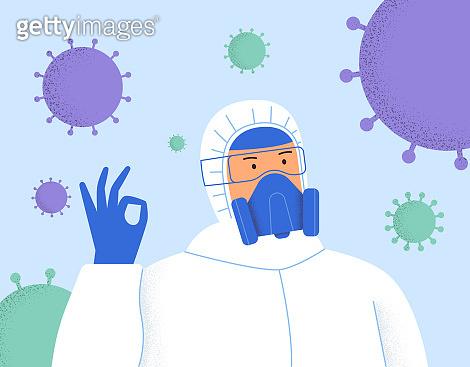 Science, coronavirus, chemistry, medical vaccine concept.