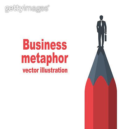Business metaphor concept vector flat