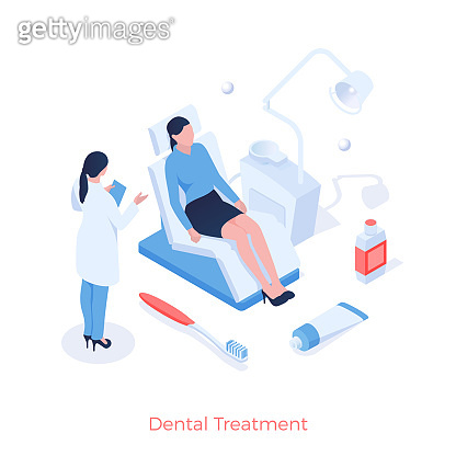 Dental treatment and prophylaxis. Dentist examines patients mouth