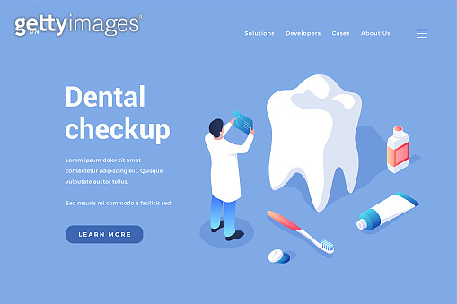 Dental checkup and prevention. Dentist examines patient teeth
