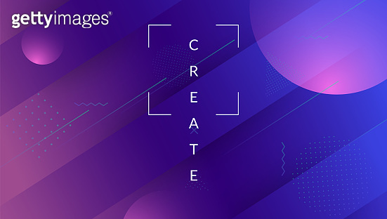 Minimal Banner. Commercial Illustration. Violet Hipster Flyer. Art Digital Layout. Futuristic Pattern. 3d Landing Page. Memphis Page. Dynamic Shape. Violet Minimal Banner