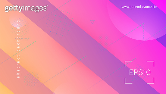 Liquid Banner. Digital Cover. Commercial Invitation. Color Landing Page. Violet Bright Background. Vibrant Page. 3d Geometric Shape. Fluid Screen. Lilac Liquid Banner
