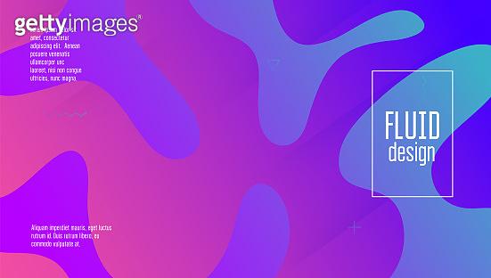 Modern Layout. Blue Trendy Cover. Neon Fluid Poster. Liquid Journal. Wave Futuristic Illustration. Tech Landing Page. Technology Frame. Rainbow Screen. Magenta Modern Layout