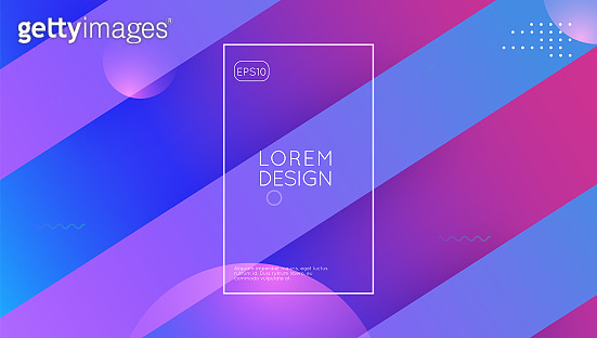 Minimal Cover. Graphic Paper. Wavy Landing Page. Gradient Shape.