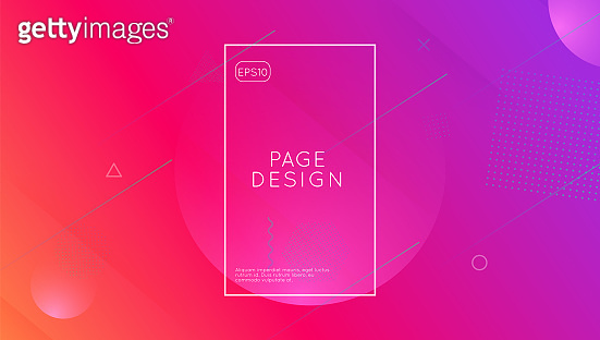 Gradient Banner. Cool Landing Page. Technology Geometry. Wave Dy