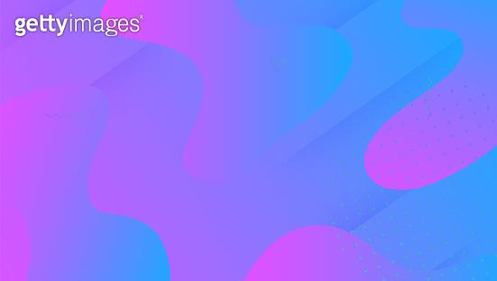 Dynamic Shape. Vibrant Texture. Cool Creative Presentation. Geometric Page. Liquid Pattern. Neon Landing Page. Blue Plastic Cover. 3d Fluid Poster. Violet Dynamic Shape
