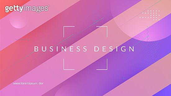 Geometric Banner. Gradient Background. Pink Trendy Layout. Wave